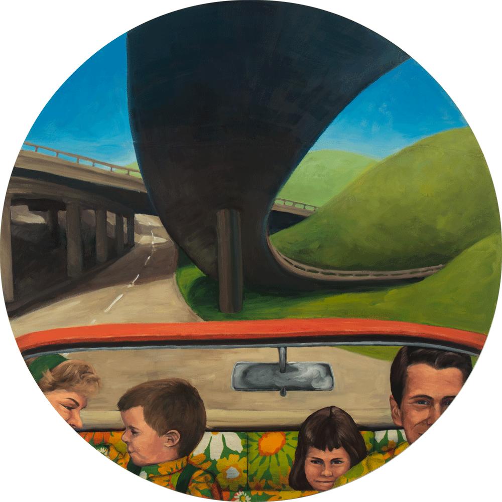 jane richlovsky contemporary art painting figurative art pattern vintage car